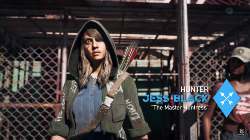 Far Cry 5 Jess Black, maîtresse chasseresse