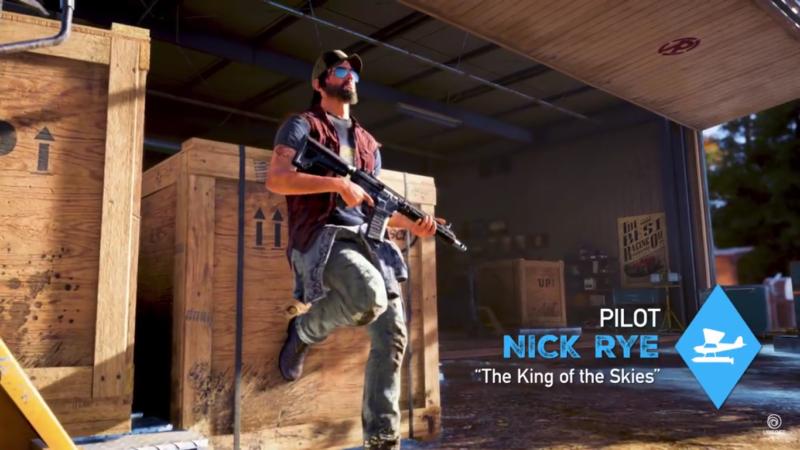 Far Cry 5 Nick Rye, surnommé le roi des cieux