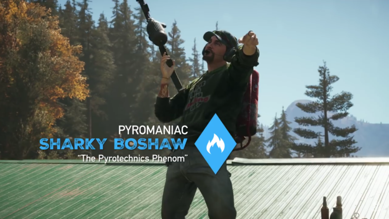Far Cry 5 Sharky Boshaw le pyromane