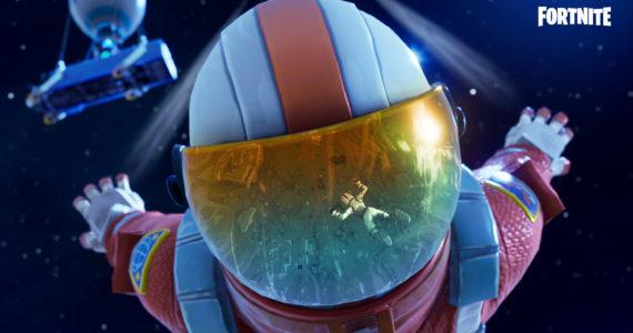 Un cosmonaute dans Fortnite