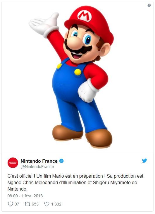 Nintendo - tweet film Mario