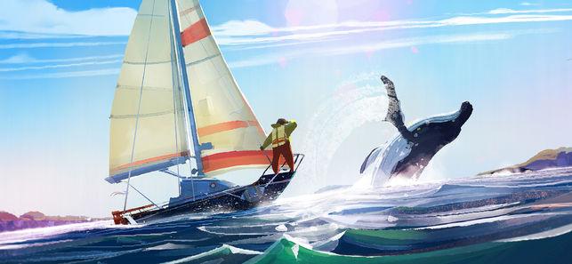 Old Man's Journey bateau baleine