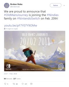 Old Man's Journey - tweet