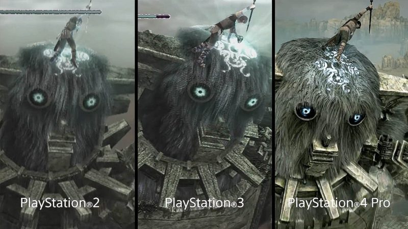 Shadow of the Colossus comparaison