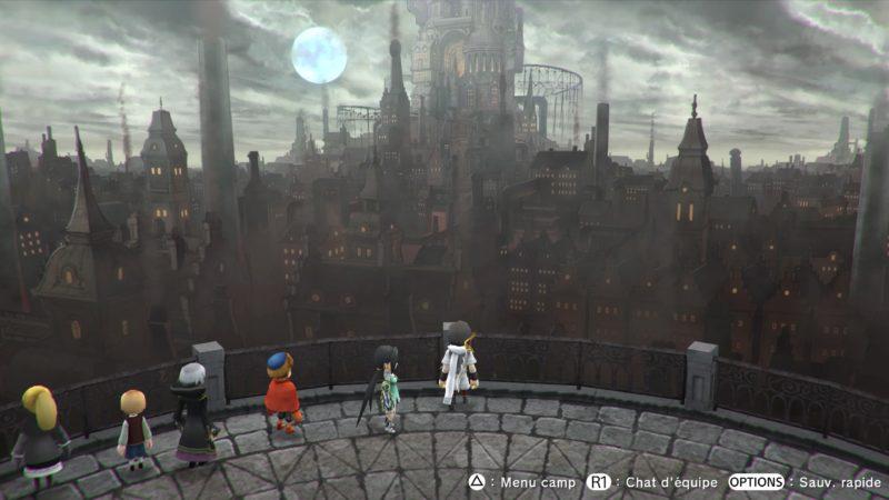 Lost Shear personnages devant un panorama de la ville brumeuse