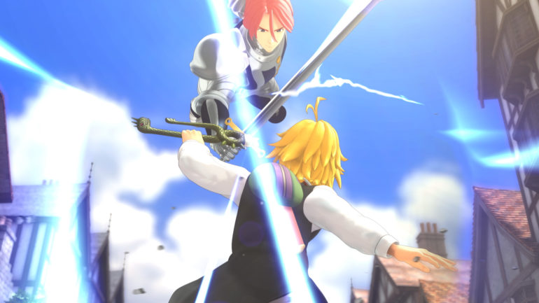 The Seven Deadly Sins: Knights of Britannia combat entre deux personnages