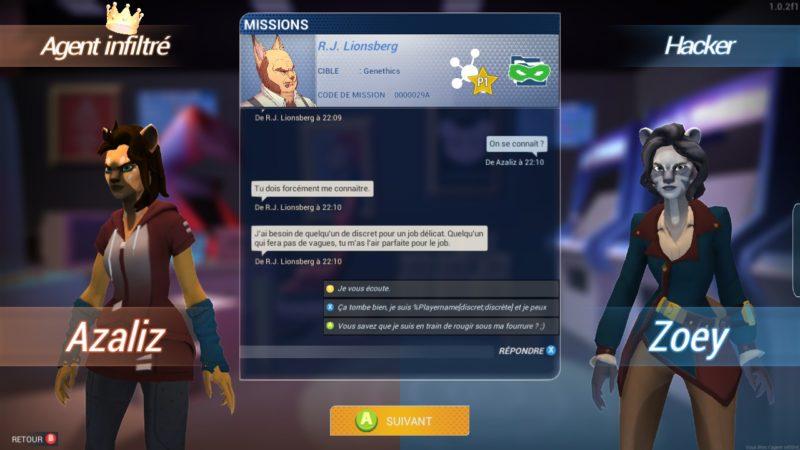 Hacktag dialogue début d'une mission
