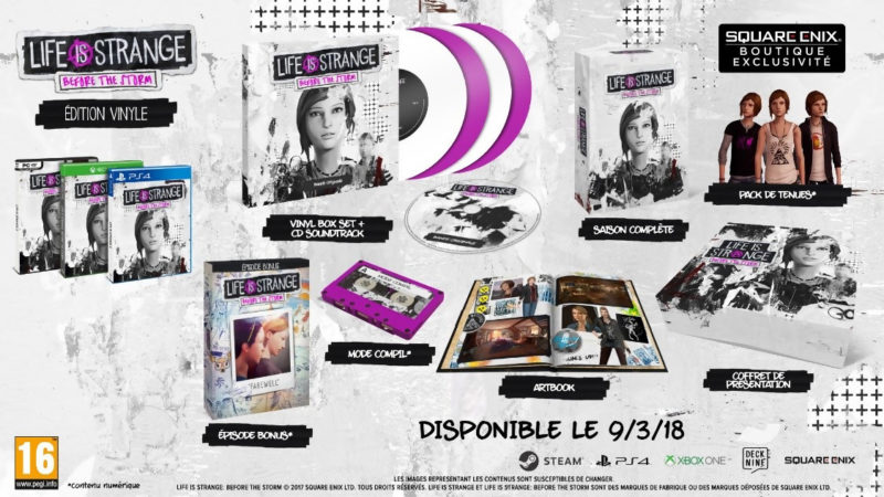 Life is Strange: Before the Storm édition vinyle