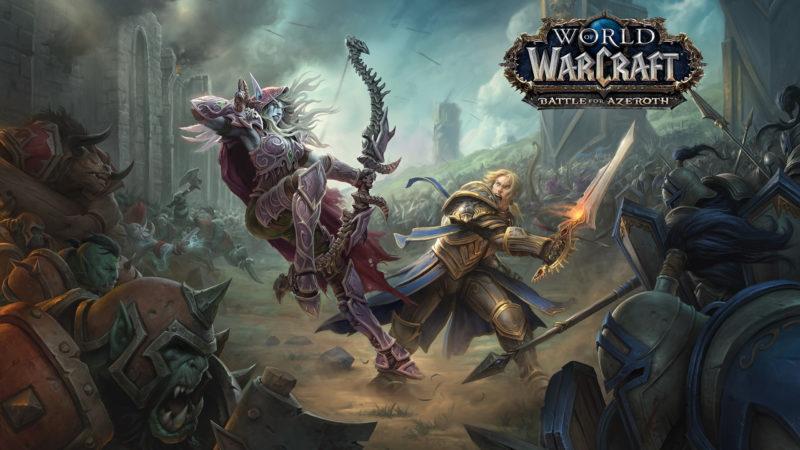 World of Warcraft: Battle for Azeroth poster représentant un combat