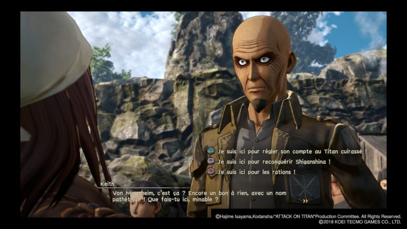 Attack on Titan 2 dialogues