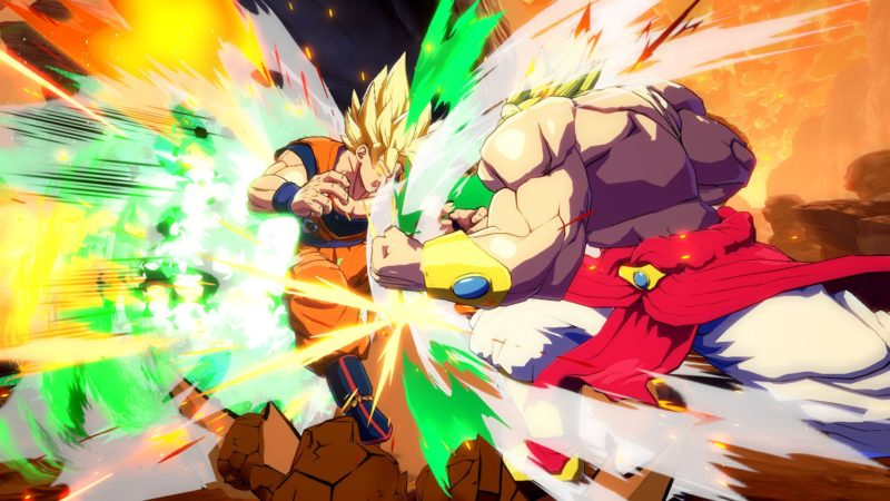 Dragon Ball FighterZ Broly vs Sangoku