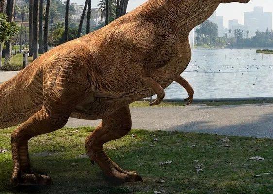Jurassic World Alive - un t-rex sauvage apparaît