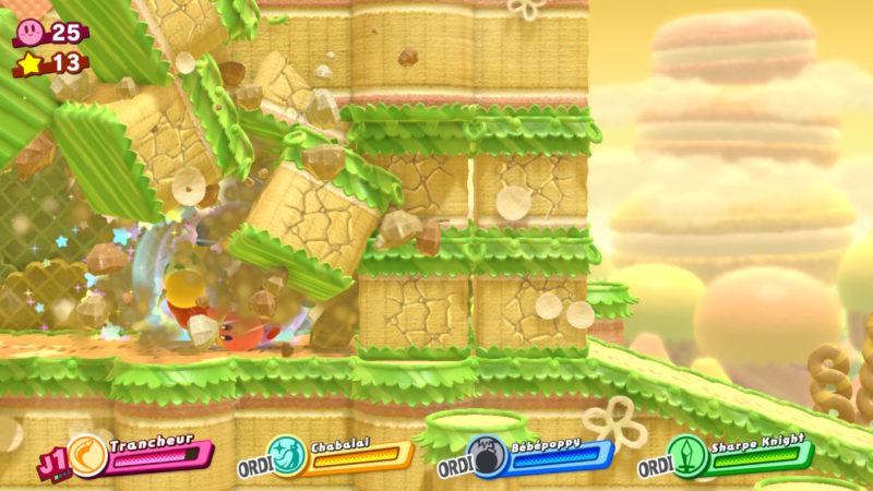 Kirby Star Allies - Explose les obstacles