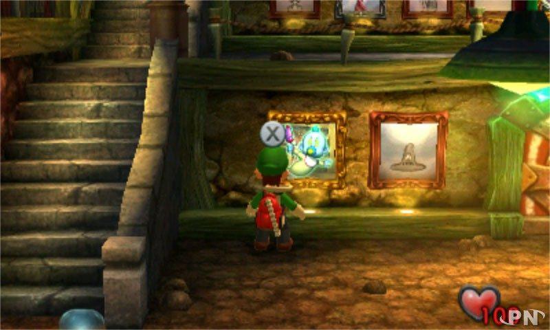 Luigi's Mansion - tailler un portrait au boss
