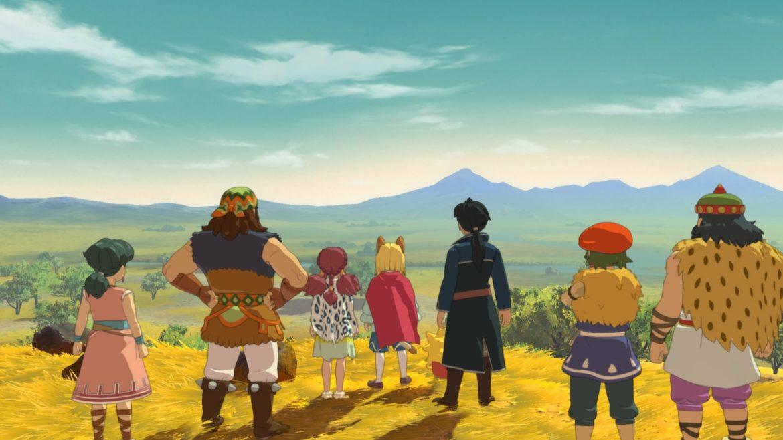 Ni no Kuni 2: l'Avènement d'un Nouveau Royaume les héros face à Espérance