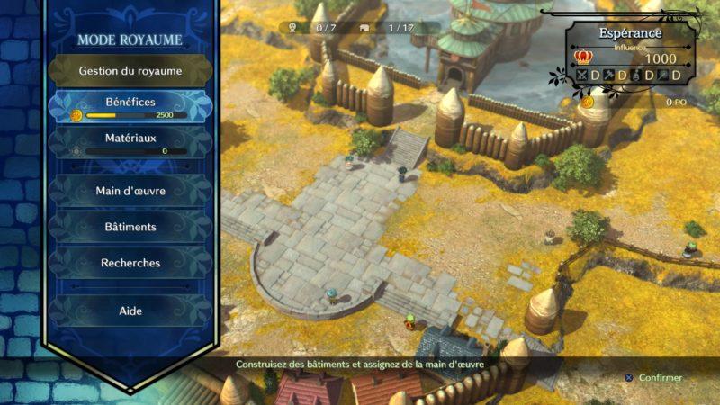 Ni no Kuni 2: l'Avènement d'un Nouveau Royaume mode royaume