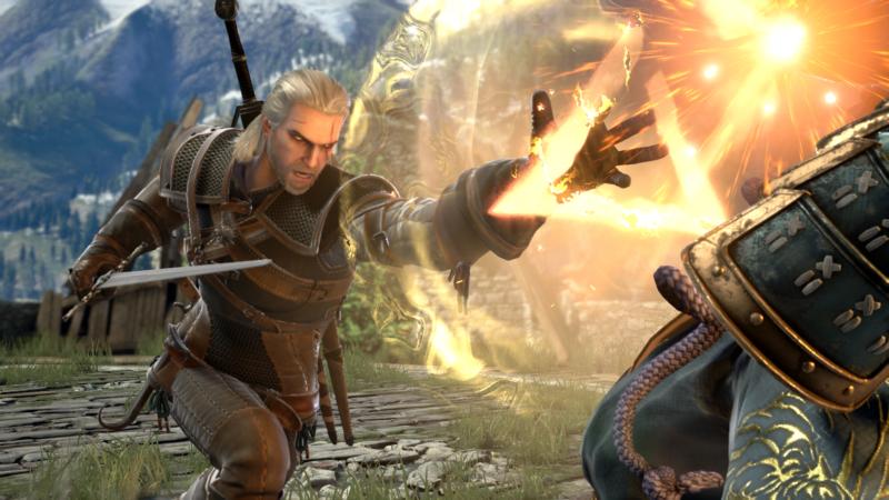 SoulCalibur VI Geralt de Riv utilise un signe magie