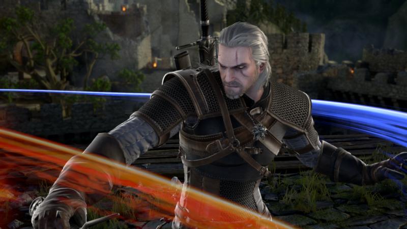 SoulCalibur VI Geralt de Riv lance un sort