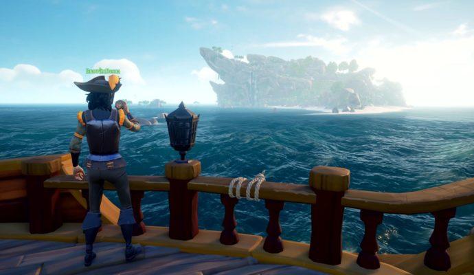 Sea of Thieves Terre en vue