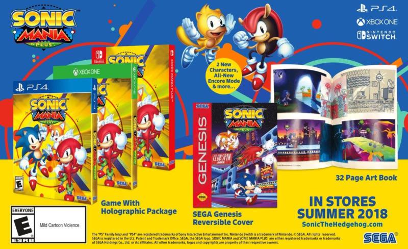 Sonic Mania Plus - détail édition physique