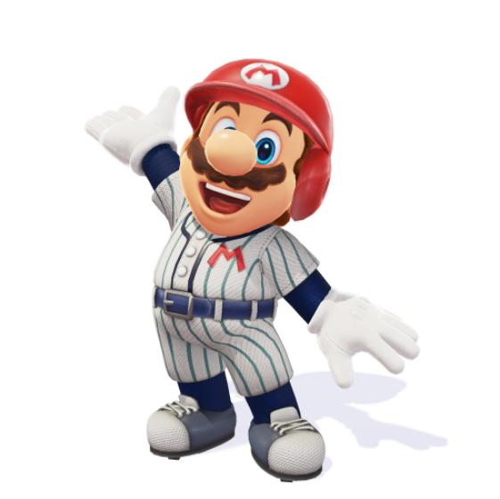 Super Mario Odyssey - Baseball costume