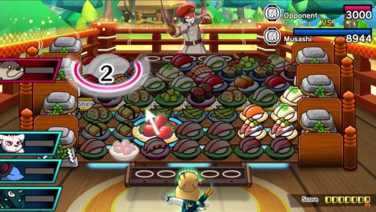 Sushi Striker: the Way of Sushido combat de sushis