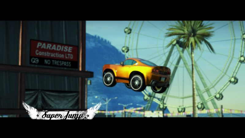 Test Burnout Paradise Remastered - toy car