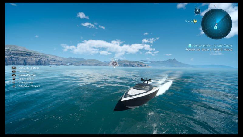 Test Final Fantasy XV DLC Pack Royal - Bateau royal