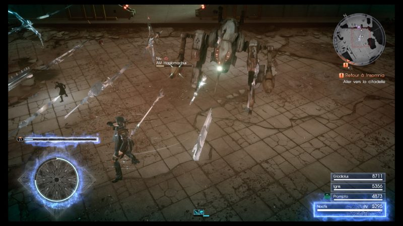 Test Final Fantasy XV DLC Pack Royal - Power up noctis