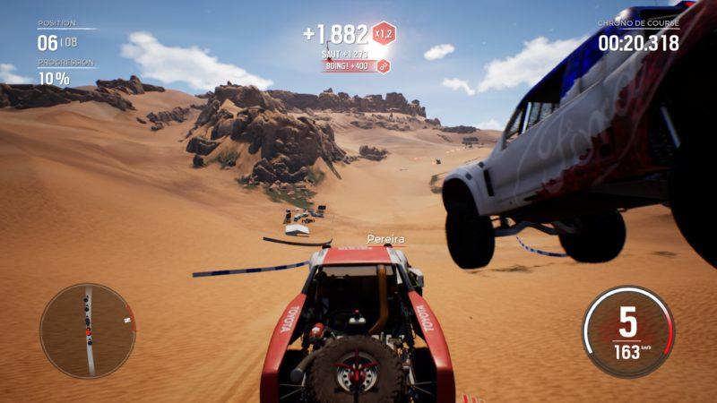 Test Gravel - Saut dans le désert