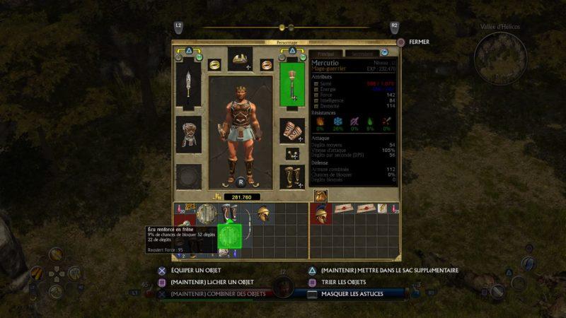 Titan Quest inventaire