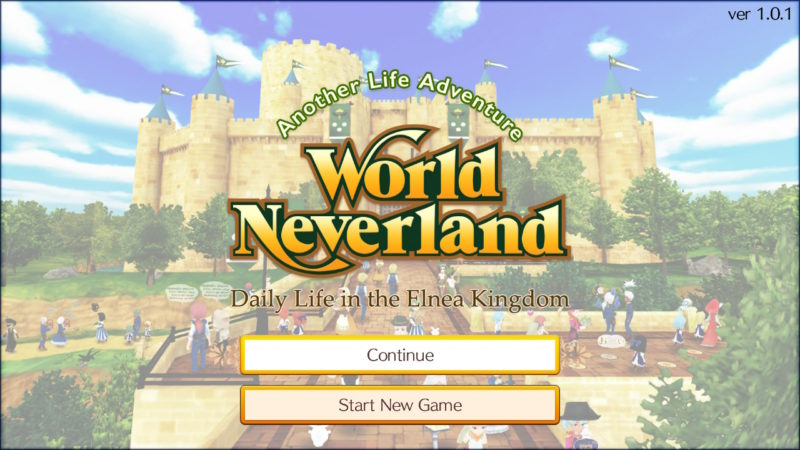 World Neverland: Elnea Kingdom - Ecran titre
