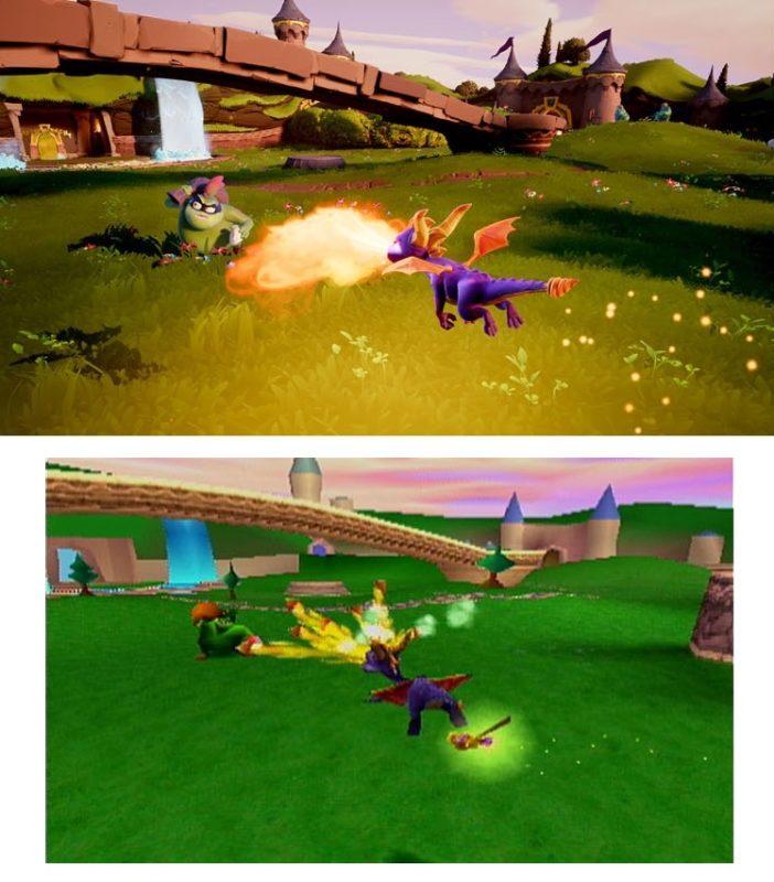 Spyro the Dragon comparatif
