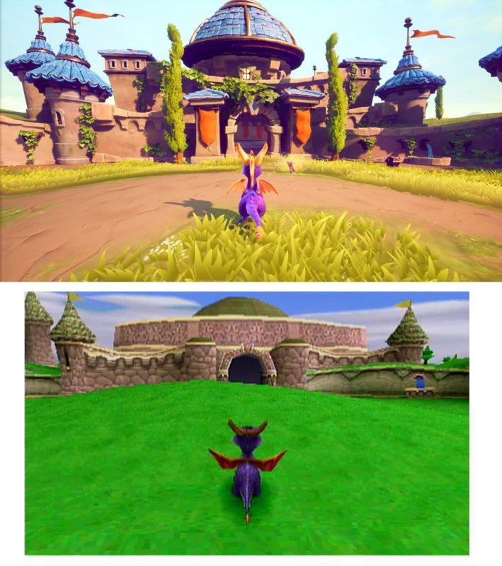 Spyro the Dragon comparatif 2