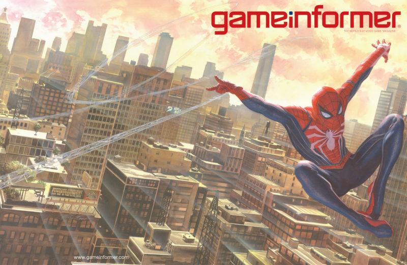 Spider-Man Game informer couverture