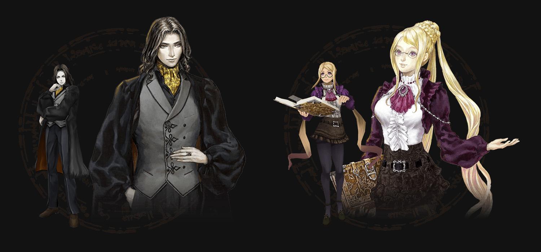 Castlevania: Grimoire of Souls deux personnages