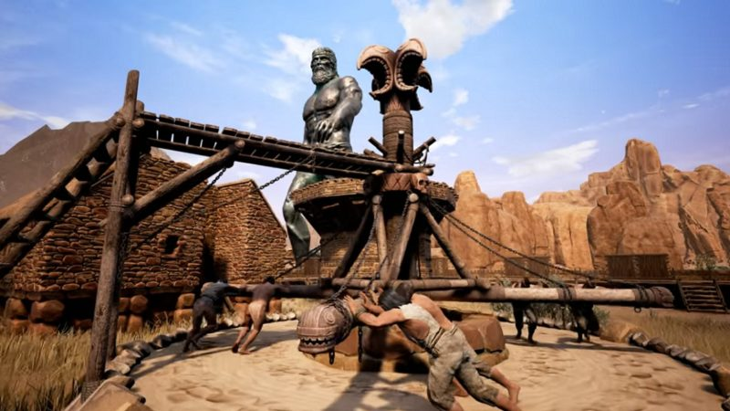 Conan Exiles gameplay musculeux