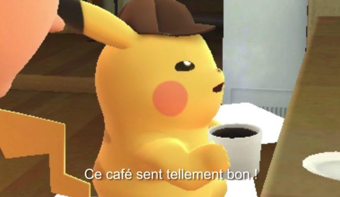 Détective Pikachu - Pikachu accro au café