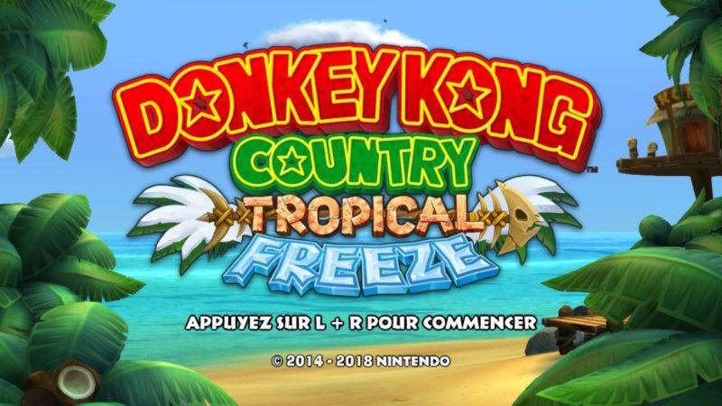 Donkey Kong Country: Tropical Freeze - Ecran Titre