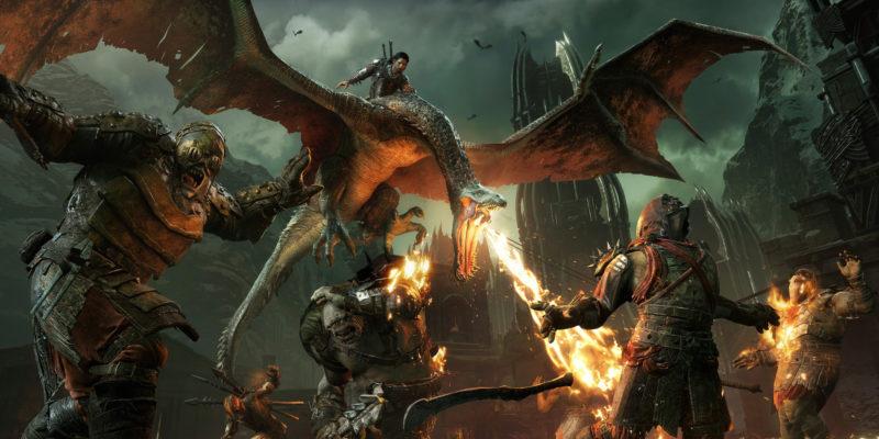 La Terre du Milieu : L'Ombre de la Guerre Talion sur un dragon-truc-nazgul