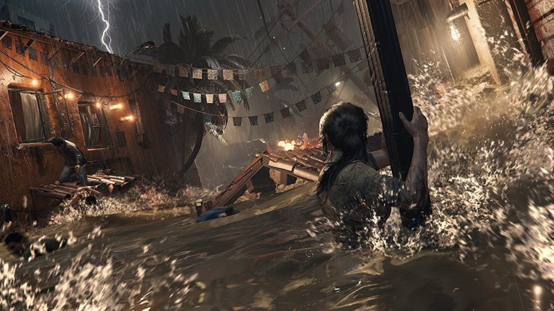 Shadow of the Tomb Raider Lara inondation