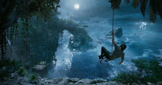 Shadow of the Tomb Raider Lara rappel