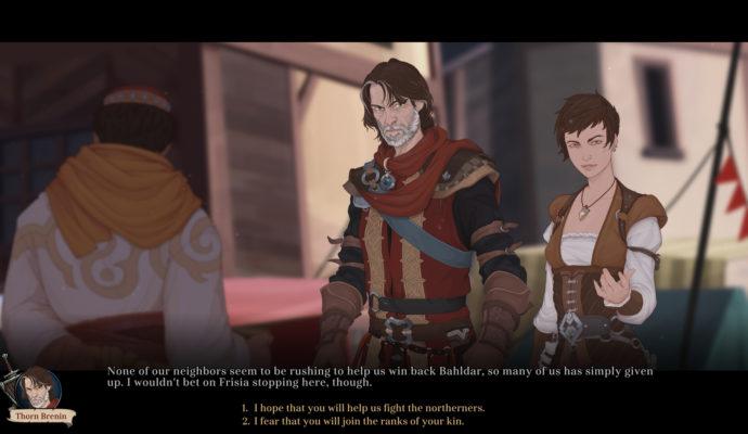 Ash of Gods: Redemption - choix dans dialogue