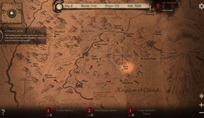 Ash of Gods: Redemption - carte