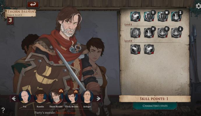 Ash of Gods: Redemption - compétences