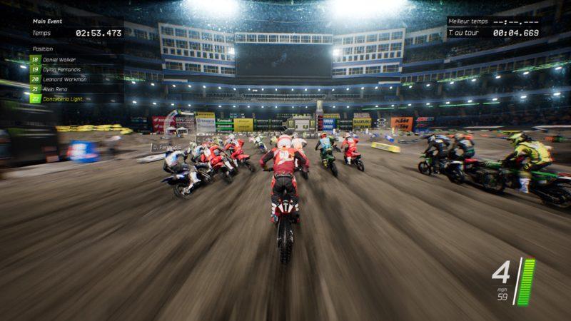 Test Monster Energy Supercross - Premier virage