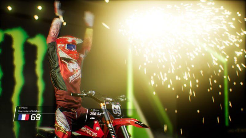 Test Monster Energy Supercross - Victoire