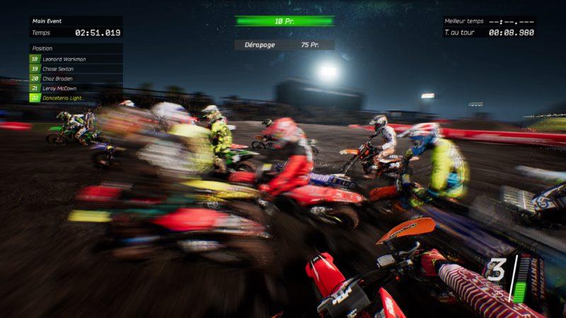 Test Monster Energy Supercross - Virage musclé