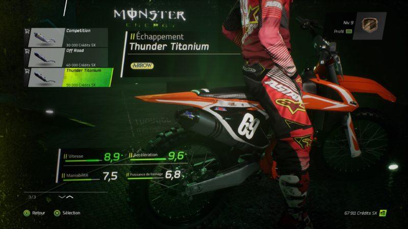 Test Monster Energy Supercross - Customisation