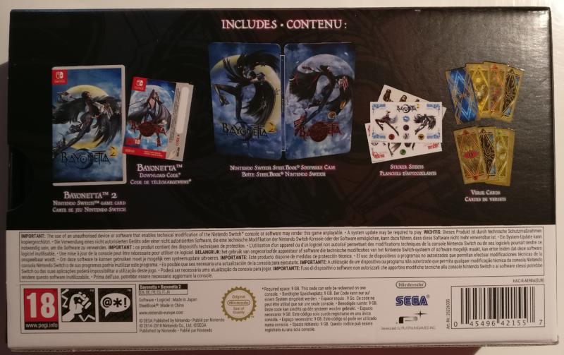 Unboxing Bayonetta Édition Spéciale - face arrière